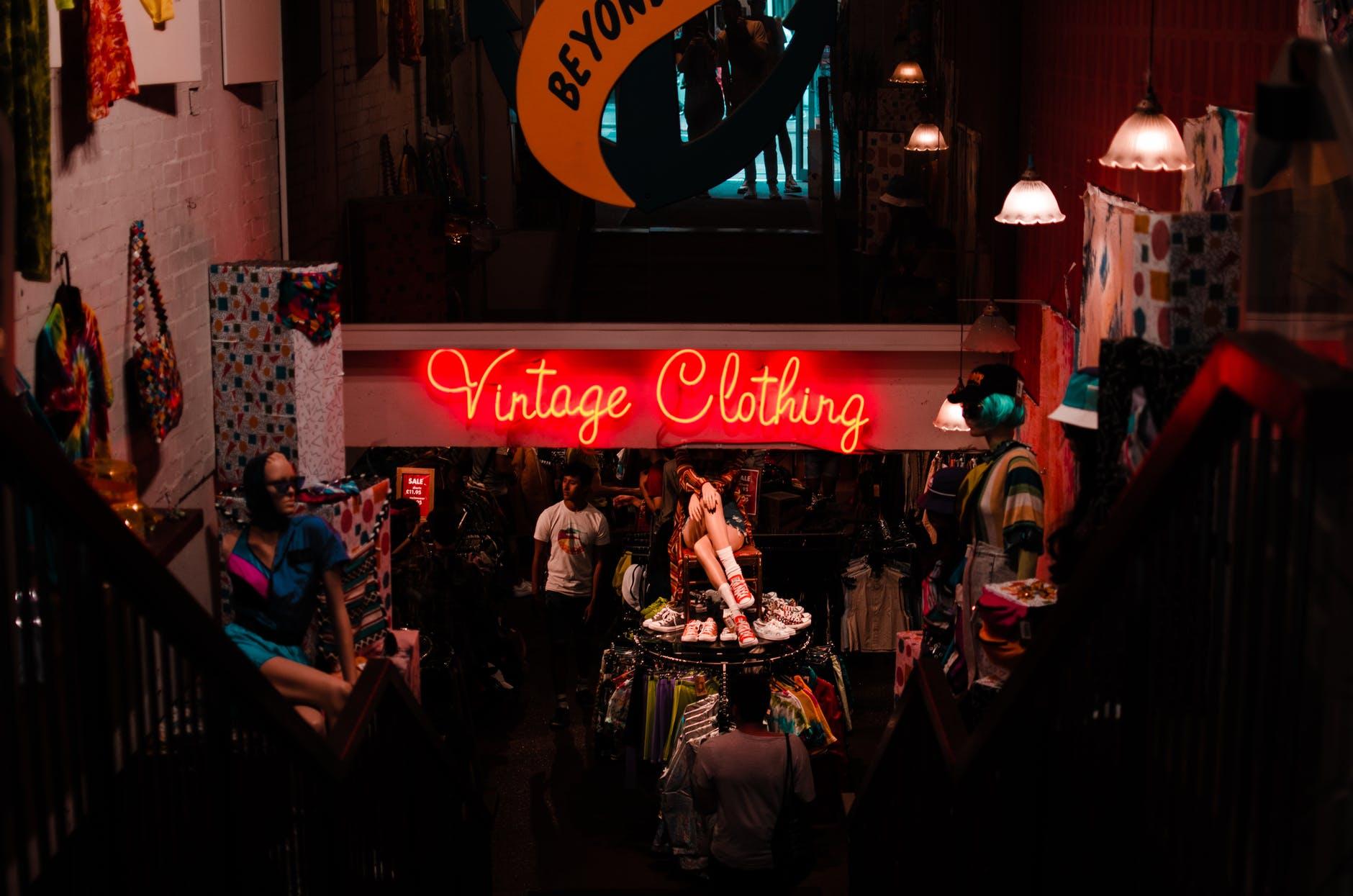Vintage ropa sostenible