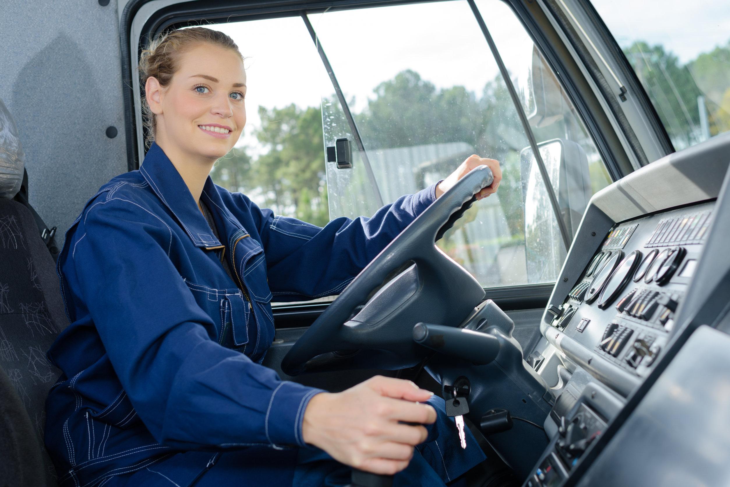 mujeres conductoras camión